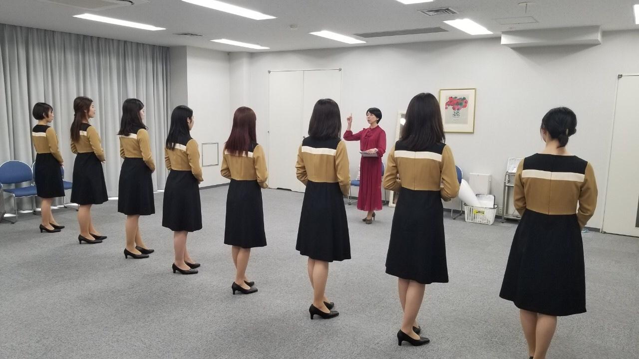 広島へ!立居振舞い&歩き方指導