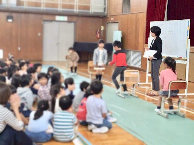 小学校での姿勢講座~保護者向け・1年生向け~